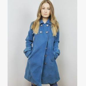 Marc Jacobs Long Blue Double Breasted Coat